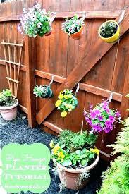 Hanging Pallet Planter Chain Link Fence Planters Boxes Nativelanguages