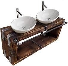 chyrka badmöbel waschtisch boryslaw bad waschbecken hängeschrank waschtischunterschrank waschbecken unterschrank metall holz loft handmade natur