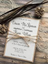 Rustic Vintage Wedding Invitations 13