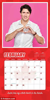 Ruler Of My Heart The Calendar Features 12 Pictures Canadian Prime Minister
