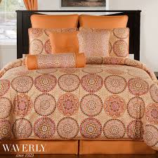 Coral Colored Bedding by Bed U0026 Bedding Beautiful Waverly Bedding For Cozy Bedroom