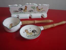 Vintage Ceramic Rooster Kitchen Set By PlayfullyVintage On Etsy Decor