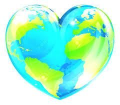 Travel Around The World Clipart A Globe In Shape Of Heart Symbol