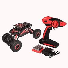 100 Monster Truck Remote Control WEBKREATURE Radio 4WD Rally Rock Crawler Red