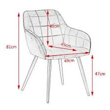 1x esszimmerstühle küchenstuhl wohnzimmerstuhl design stuhl samt metall 1201