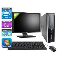 ordinateur de bureau intel i5 pc de bureau hp elite 8200 sff ecran 22 noir intel i5