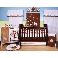 Bacati Crib Bedding by Bacati Baby And Me Giraffe Multicolor 10pc Unisex Nursery In A