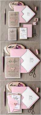 Blush Rustic Pink Wedding Invitation Suite