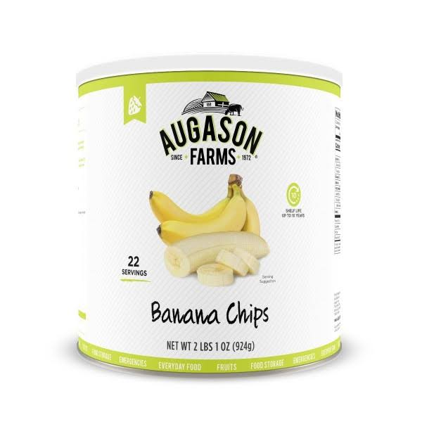 Augason Farms Banana Chips 2 lbs 1 oz No 10 Can