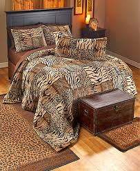 Safari Print Faux Fur Bedding Collection
