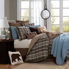 buy brown and blue comforter sets from bed bath beyond