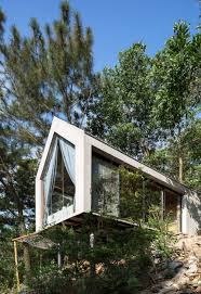 100 House In Forest Second Is An Elevated Treehouse With A Lighter Impact