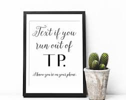 Smartness Wall Art For Bathroom Also Etsy Funny Typography Print
