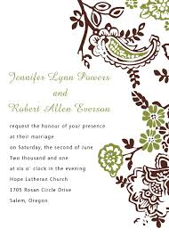 Green And Brown Rustic Floral Pocket Fall Wedding Invitation Card EWPI079 I