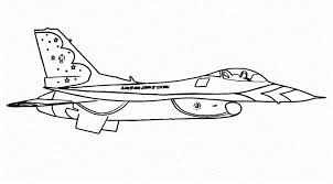 Jet Aircraft Army Coloring Pages