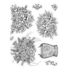 ton dessin bouquet et pot de fleurs images naperons