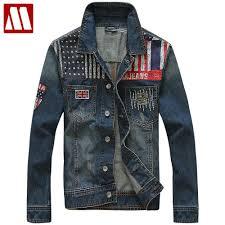 popular mens punk denim jacket buy cheap mens punk denim jacket