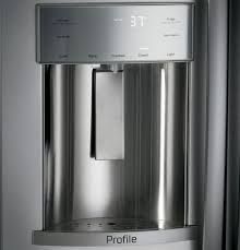ge profile series 42 built in side by side refrigerator with