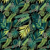 Jungle Leaves Fabric Wallpaper Gift Wrap