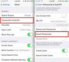 Find Saved Passwords on iPhone & iPad in Safari
