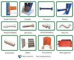 Warehouse Factory Iron Heavy Duty Pallet Rack Storage