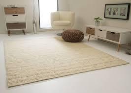 steffensmeier handweb teppich landshut nutzschicht 100 schurwolle wohnzimmer esszimmer schlafzimmer hellbeige größe 60x110 cm