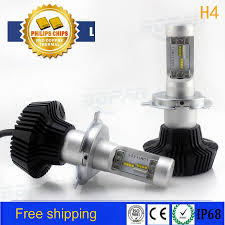 for philips 160w 16000lm h4 led headlight kit high low beam bulbs