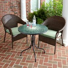 Kmart Jaclyn Smith Patio Furniture by Jaclyn Smith Reece 2pk Brown Wicker Stack Chair With Green