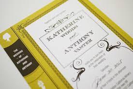 Vintage Book Wedding Invitation Printable By ThreeEggsDesign 4500