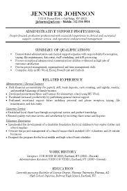Skills And Experience Examples On Resume Summary For No Work Packed With