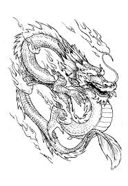 Fire Dragon Coloring Pages Valid Chinese China Adult