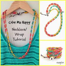 Color Me Happy Necklace Wrap DIY TUTORIAL