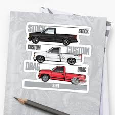 100 Chevy 454 Ss Truck 3 In 1 SS Stickers By JRLacerda Redbubble