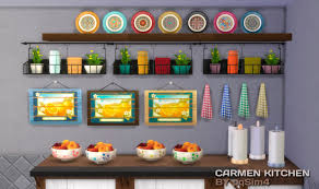 My Sims 4 Blog Carmen Kitchen Decor Recolors By PqSim4