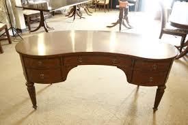 Kidney Desk Mahogany Desk