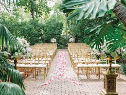 Rose Petal Lined Wedding Ceremony Aisle