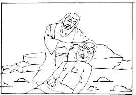 Heals Blind Man Coloring Page Bartimaeus Bible Pages Full Size