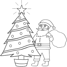 Christmas Tree Coloring Page Print Out by Download Coloring Pages Santa Coloring Page Santa Coloring Page
