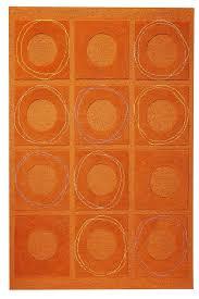 Attractive Orange Area Rug Orange Circa Area Rug Rust