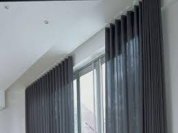 how to install ceiling mount curtain track john robinson house
