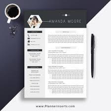 Best Resume Template 2019, Cover Letter, Office Word Resume, CV Template,  Editable Resume, Simple & Professional Resume, Instant Download: Amanda ...