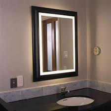 bathroom lighting cool lighted bathroom wall mirror design vanity