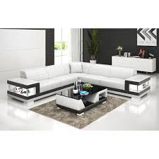 grand canapé grand canapé d angle en cuir lille avec éclairage pop design fr