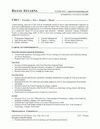 Sample Resume For A Cook