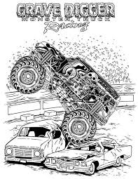 Monster Truck Grave Digger Coloring Page PageFull