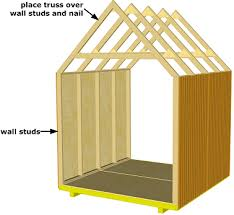 storage shed truss over wall studs shed pinterest wall stud