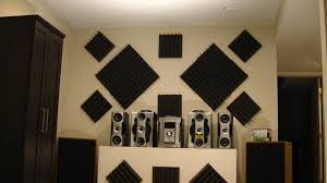 how to hang acoustic foam tiles on wall the easy way