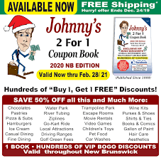 Johnny's Coupons - New Brunswick Edition Bass Pro Shop Coupons Online Sky Zone Coupon Code Vaughan Stockx Promo Selling Morgan And Milo 25 Off All Local Flavor Deals Frugal Lancaster Living Social Retailmenot Beautyjoint Zone Springfield Il Home Facebook Hp Wireless Printer School Free Shipping Centre Island Ronto Entertain Kids On A Dime Pgh Momtourage Indoor Trampoline Park Jump Pass Get Air Sports Postmates Seattle Amazon Codes Discounts Antasia Beverly Hills 2018 Lucas Oil Discount