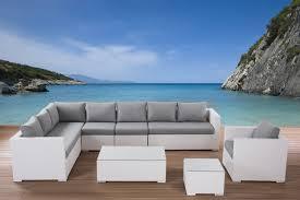 beliani rattan garden furniture set outdoor 23 pieces lounge
