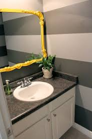 Gray Yellow And White Bathroom Accessories by Best 25 Grey Striped Walls Ideas On Pinterest Teen Rooms